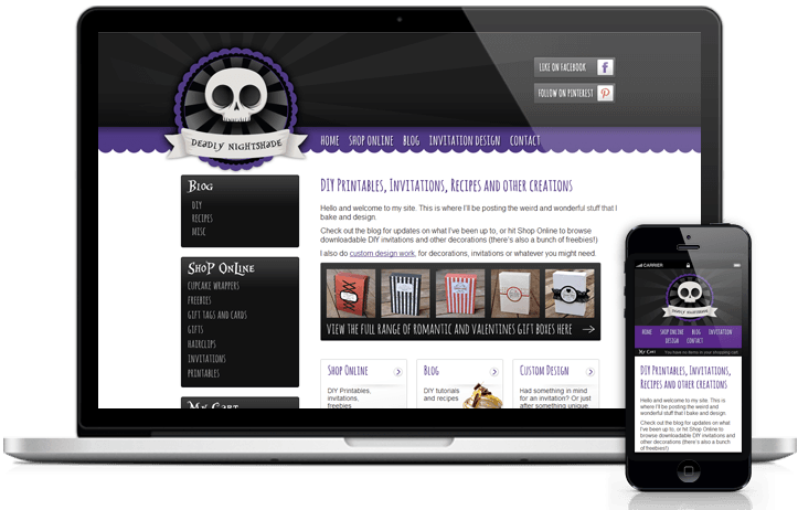 Deadly Nightshade Website Design